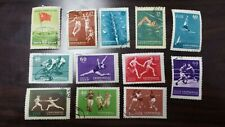 RUSSIA, Lot of (12) used, Hinged Stamps, 1956