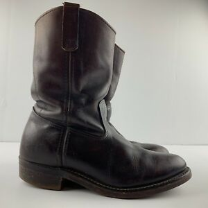 Vintage RED WING 294 Men 8 3E Leather Boot Cowboy Western Oil Resisting USA