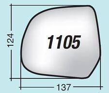Vetro specchietto Dacia - Nissan sinistro termico con piattello 1105SPR