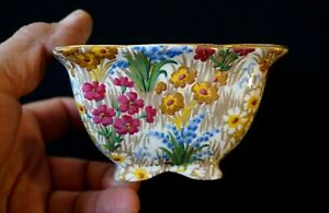 Beautiful Royal Winton Grimwades Chintz Marguerite Gold Sugar Bowl