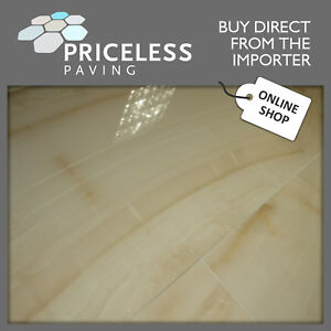 Ivory Beige Marble Effect Porcelain Wall Floor Tile 1200x600x10mm Look at Me