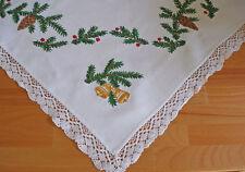 Antike Mitteldecken im Weihnachts-Stil mit Häkelborte