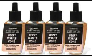 Bath & Body Works BERRY WAFFLE CONE Wallflower Fragrance Refill Bulbs x 4 Lot