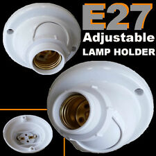 E27 Adjustable Ceiling ANGLE Batten lamp holder ES Bulb Halogen LED Lighting DIY