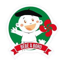 Autocollant Bébé à bord Basque stickers adhésif logo 6 8 cm