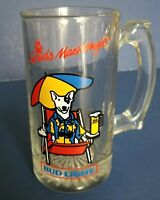 Vintage Spuds MacKenzie Party Animal Bud Light Glass Beer Mug 1987