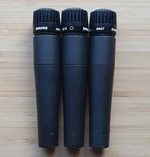 Set of 3 Shure SM57 dynamic microphones