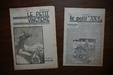 TINTIN HERGÉ Le Petit Vingtième September 25th 1930 + Le Petit XX January 1929