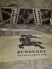 BURBERRY ABSTRACT SMOKED NOVA CLUTCH PURSE BAG AUTHENTIC STUDDED