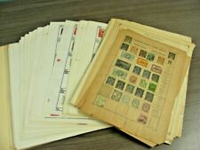 WW, BRITISH COLONIES, Accumulation of 100s of Stamps hinged on remainder pages