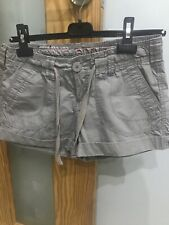 Ladies Khaki Cotton Shorts Size 8