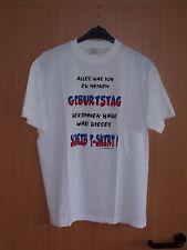 Fun Shirt Alles was ich bekommen habe  Geschenk Geburtstag Partygag weiss L neu