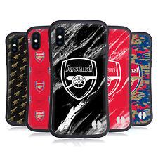 OFFICIAL ARSENAL FC CREST PATTERNS HYBRID CASE FOR APPLE iPHONES PHONES