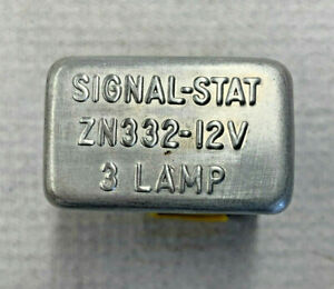 1961-63 CORVETTE & CHEVY ZN332 SIGNAL STAT 3 BULB FLASHER NOS-NEW / TESTED