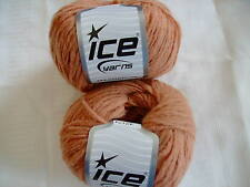 Ice Yarn Camel color Wool Blend