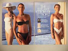 Bain de Soleil Tanning Lotion 2-Page PRINT AD - 1990 ~ swimsuit