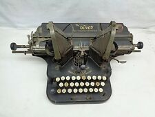 Antique Olive Batwing No 5 Typewriter for Restoration or Parts