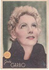 Image imprimée de Greta Garbo—Programme films au verso—Espagne—1945