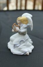 Midwest Cannon Falls Phb Angel Playing Harp with Scroll Trinket Box with Box