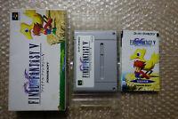 """Final Fantasy V 5 """"Good Condition"""" Nintendo Super Famicom SFC Japan"""