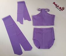 4 Piece Lilac Lycra Dance Age 5-7 High Waisted Briefs/Cropped Top Beginner