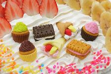 Japan Iwako 7 DESSERTS Puzzle Rubber Eraser Set Cup Cake, Crepe, Biscuitt (No.3)