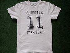 Chipotle Farm Team #11 Off-White T-Shirt Loomstate Mens Medium