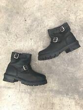 Vintage 90s SKETCHERS Black Boots Grunge Platform Punk Rave Skate Size 3.5 4.5