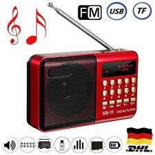 Tragbarer FM Radio Lautsprecher Akku Mini Box Musikbox MP3 Player USB SD Aux