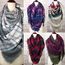 NEW Women's Oversized Blanket Tartan Wrap Scarf XL Square Shawl Plaid Pashmina