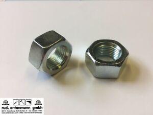 Sechskantmuttern Metrisches Feingewinde MF Größe MF 8 bis MF 16 DIN 934 verzinkt