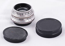 Rare very early compact size Carl Zeiss Jena Tessar 5cm f2.8 red T M42 14 blades