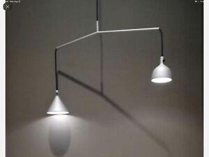 Menu Grey Aluminum Linear Suspension Cast LED Pendant Lamps Contemporary Farmhou