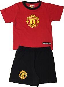 Boys Manchester United Shortie Football Pyjamas Pjs