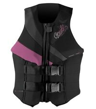 O'NEILL WOMENS SIREN USCG APPROVED LIFEJACKET SIZE:10 OR LARGE--BLACK PINK