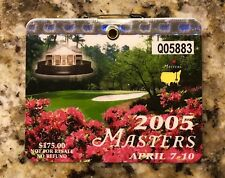 2005 MASTERS AUGUSTA NATIONAL GOLF CLUB BADGE TICKET TIGER WOODS WINS PGA