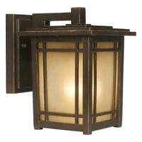 HDC Port Oxford 1-Light Oil-Rubbed Chestnut Outdoor Wall Lantern Sconce