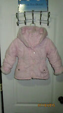 Baby Toddler 4T Casual Time Kids Pink Winter Parka Coat Jacket Hoodie Hearts