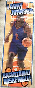 Larry Johnson POSTER New York Knicks Little Caesars 1996 Basketball NBA 26x74