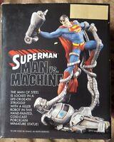 Superman Man Vs Machine Limited Edition Mini Statue 2001 DC Direct 750 / 2,500