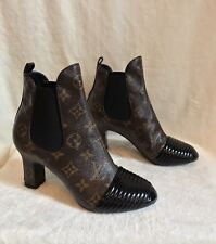 Louis Vuitton Brown Monogram NEW REVIVAL Ankle Boot Shoes 36, US 5.5
