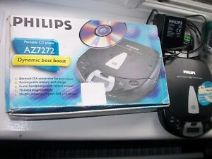 PHILIPS PORTABLE CD PLAYER AZ7272-BOXED ACCESORIES