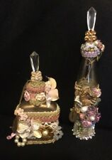 Katherine's Collection Wayne Kleski Fancy Beaded Decorative Perfume Bottles NOS