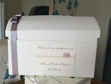 AVORIO / BIANCO VINTAGE IN PIZZO PERLE E ROSE MATRIMONIO casella postale Heart Wedding sul petto