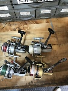 Daiwa Spinning Reels Lot of 4, GS-6 , 7000C, 4000C. Silver Series Gold Series