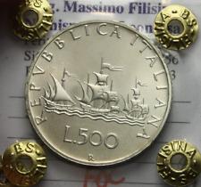 NL* ITALIA 500 Lire Argento 3 Caravelle 1985 FIOR DI CONIO Perizia Filisina M