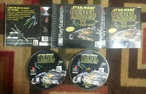 STAR WARS REBEL ASSAULT II COMPLETE (Sony PlayStation 1, 1996) VG SHAPE & TESTED