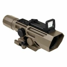 NcSTAR VISM Tactical ADO 3-9x42 Rifle Weaver Rail Scope w/Flip Up Red Dot Optic