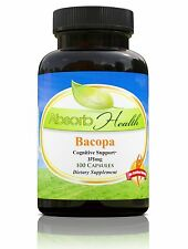 Bacopa Monniera 375mg 10:1 Extract 100 Capsules Learning Memory Supplement