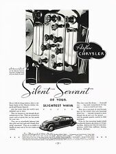 1934 BIG Vintage Chrysler Custom Imperial Car Instrument Panel Photo Print Ad